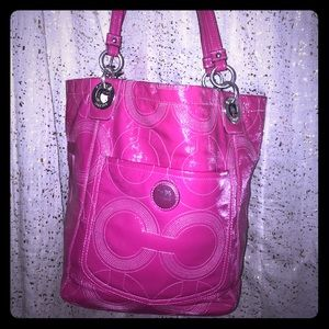 Coach patent leather tote— beautiful bag!
